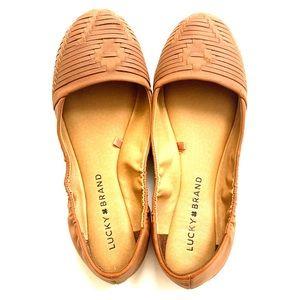 Lucky brand woven design ballet flats